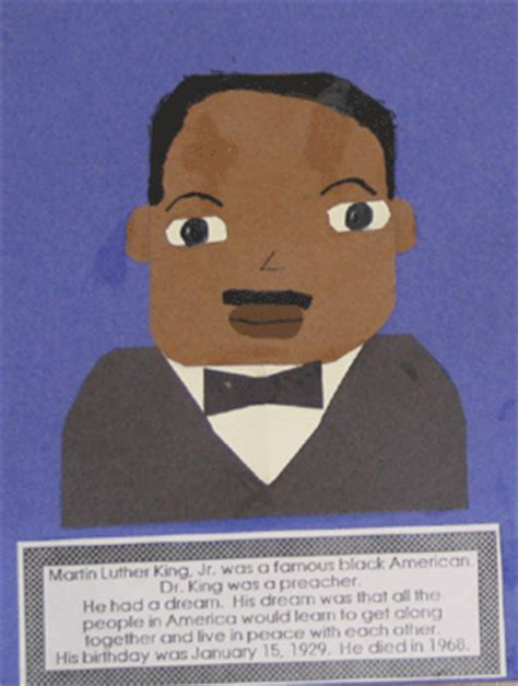 mlk crafts for allen reads january 2012