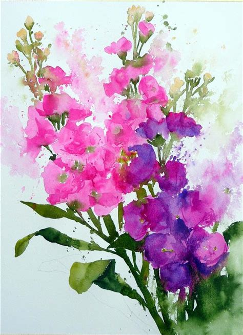 fast flower painting fast and flowers using watercolour