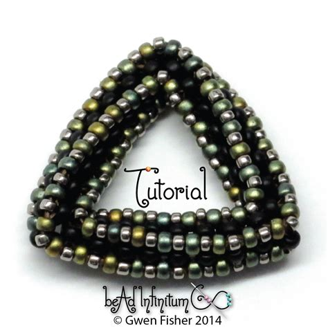 seed bead weaving tutorials gwenbeads new tutorial highly unlikely triangle with