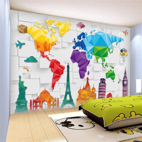 wall size murals custom size 3d wall murals world plate map anime wallpaper