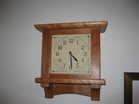 clocks for woodworking projects mission wall clock by arthurs lumberjocks