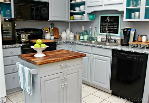 kitchen island with microwave microwave cart turned kitchen island 4 real