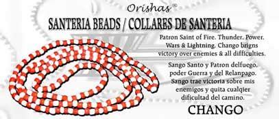 Santeria Bead Necklace Chango And White