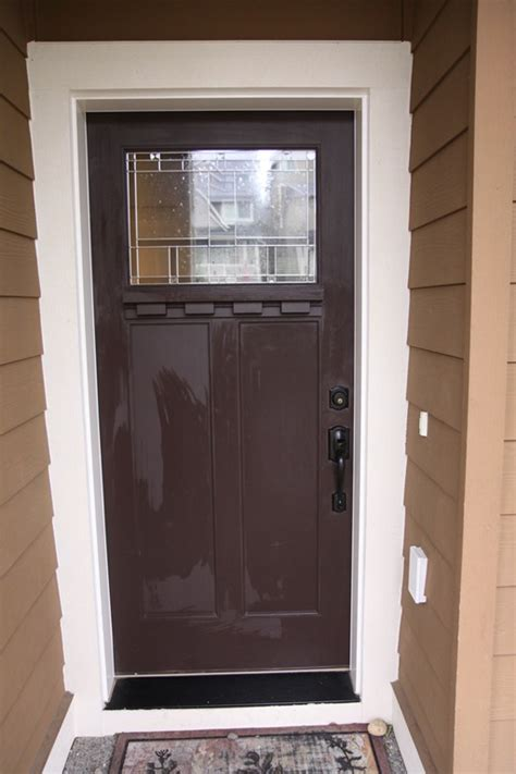 brown front doors a front door makeover from brown to glidden trim