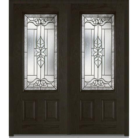 glass front doors home depot mmi door 74 in x 81 75 in cadence decorative glass 3 4