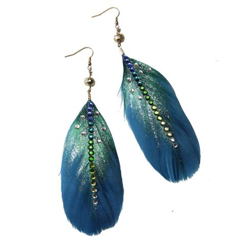 how to make feather jewelry ilovetocreate feather earrings a craft a day with