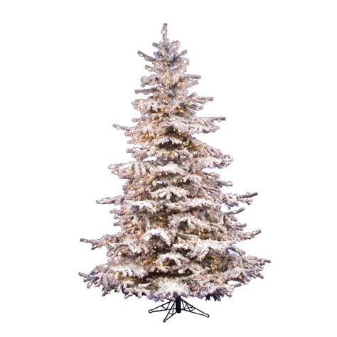flocked white tree 7 5ft pre lit artificial tree white flocked