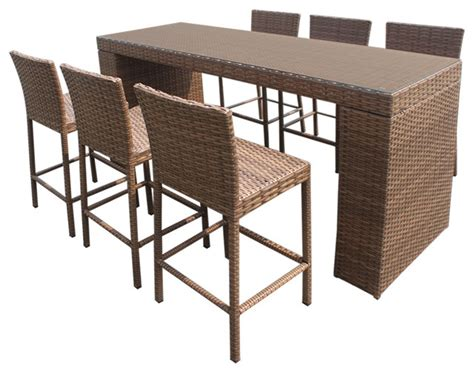 patio furniture bar table tuscan bar table set with barstools 7 outdoor wicker