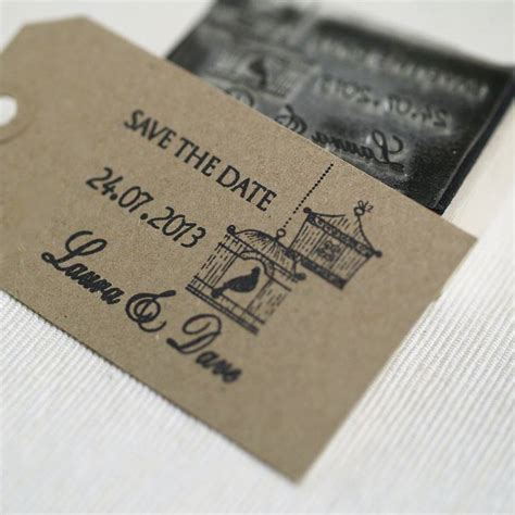rubber date st personalised birdcages save the date st by beautiful