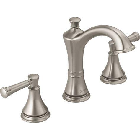 delta brushed nickel kitchen faucet shop delta valdosta spotshield brushed nickel 2 handle