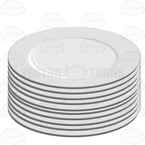 Kitchen Collection Com stack of white plates stock cartoon graphics vector toons