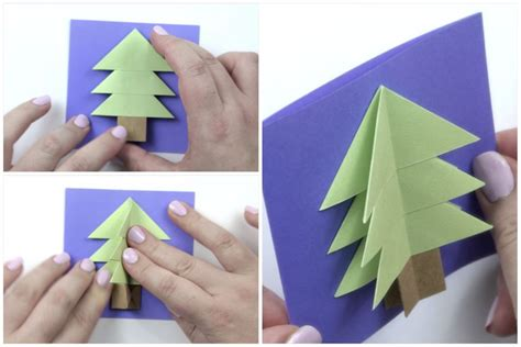 how to make a origami card easy origami tree card tutorial