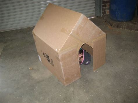 how to make a card board box cardboard box play house