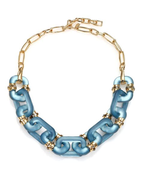how to make lucite jewelry bittar sport deco lucite link necklace in blue lyst