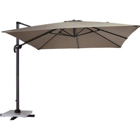parasol excentr 233 taupe proloisirs leroy merlin