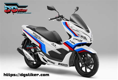 Pcx 2018 Lokal Warna by Decal Sticker Honda Pcx New 2018 Lokal Warna Putih Livery