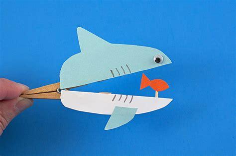 shark craft projects clothespin sharks 183 kix cereal