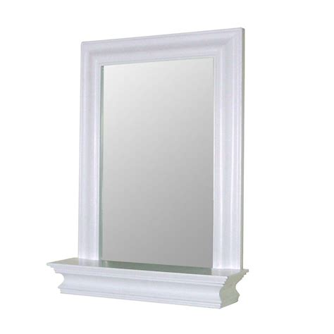 white bathroom mirror home fashions stratford 24 in x 18 in framed