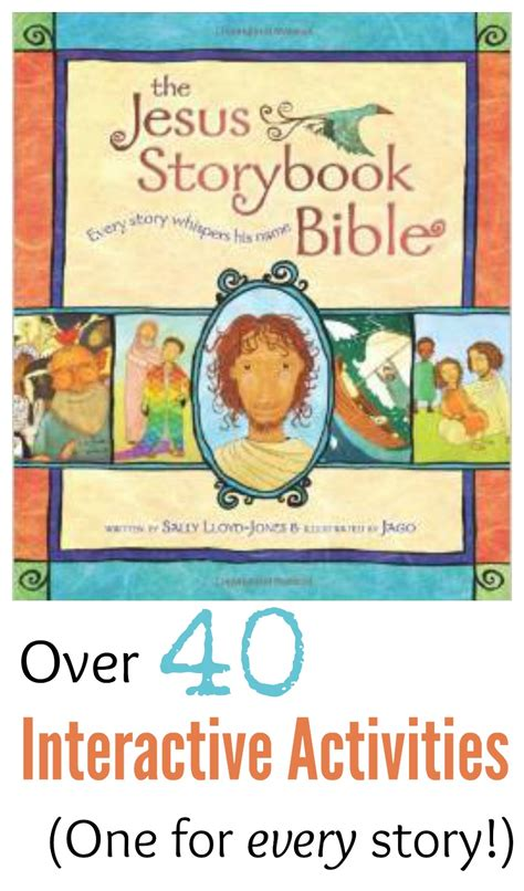 story book with pictures the quot jesus storybook bible quot on activities and crafts