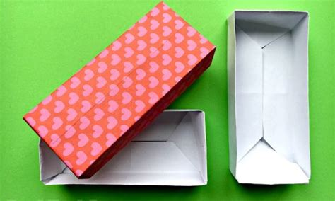 origami box with rectangular paper origami archives ted s
