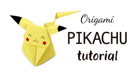 origami pikachu origami pikachu tutorial diy paper kawaii