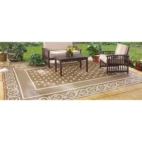outdoor rugs 9x12 guide gear reversible 9 x 12 outdoor rug scroll pattern