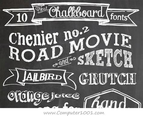 chalk paint adalah 3 15 background dan font untuk desain bergaya papan tulis