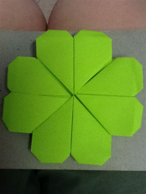 Origami Four Leaf Clover By Nightrideralice On Deviantart