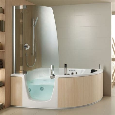 walk in baths with shower teuco 383 top 1725mm corner combi bath with 8 jet