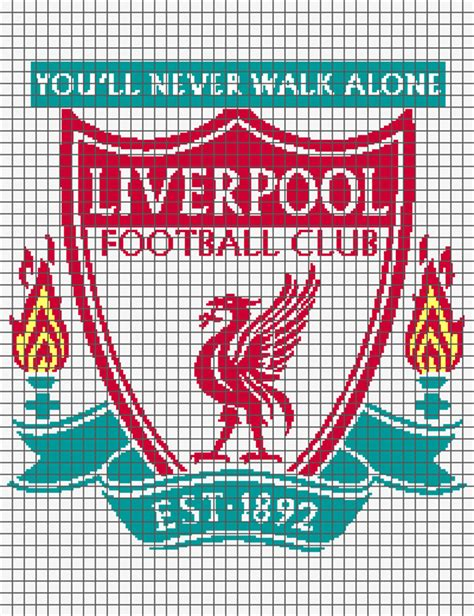 liverpool knitting patterns liverpool football club graph and row by row written