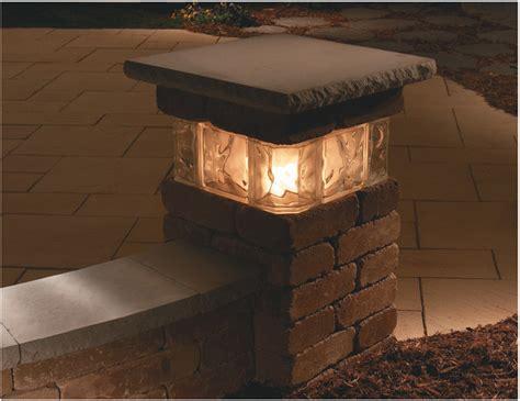 solar column lights outdoor 20 quot pillar kit with glass necessories outdoor living