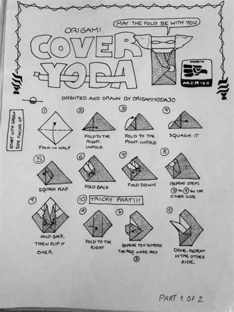 how to fold the cover origami yoda origamiyoda30 s cover yoda origami yoda