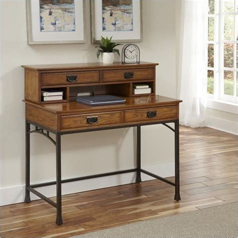 distressed desk with hutch bowery hill computer desk with hutch in distressed oak