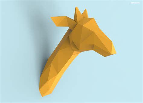 paper craft pdf giraffe papercraft pdf pack 3d paper sculpture template