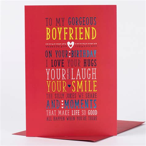 cards to make for your boyfriend birthday card for my boyfriend only 89p