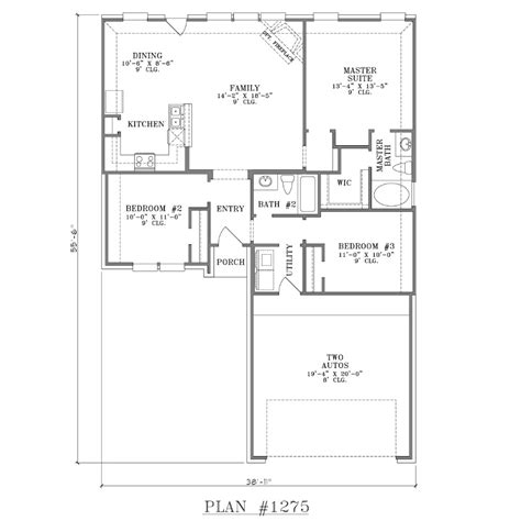 house plans with open floor plans 1 story