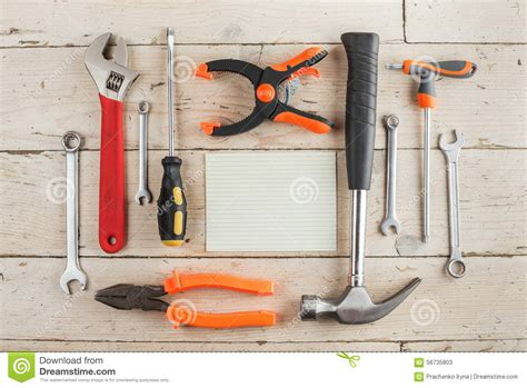 greeting card tools set of dcarpentry tools stock photo image 56735803