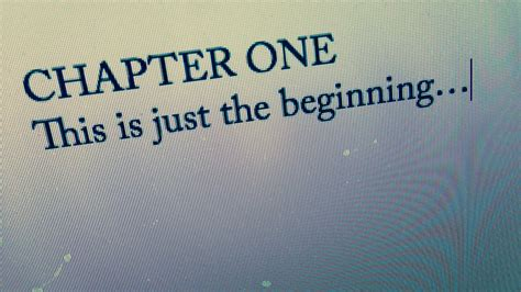 one chapter chapter one justin mclachlan