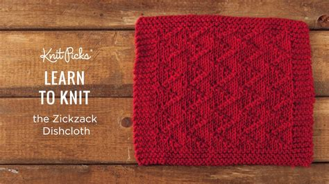 how does it take to learn to knit knitted dishcloth tutorials