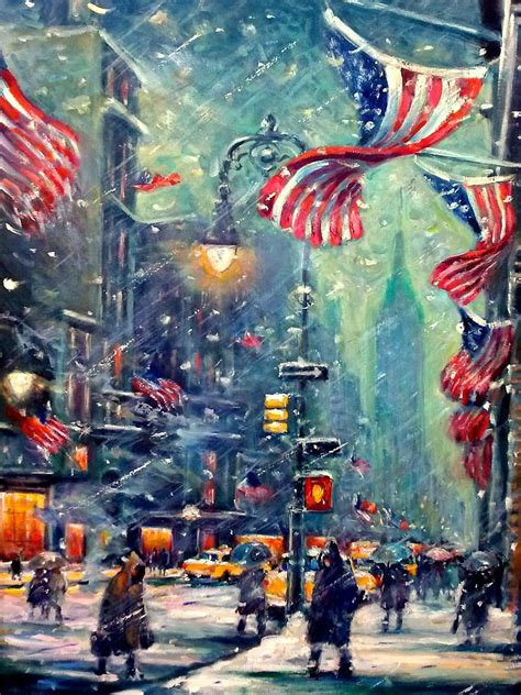 paint nite nyc new york snowy painting by philip corley