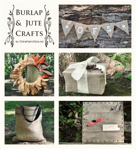 craft projects using burlap 10 great burlap jute projects