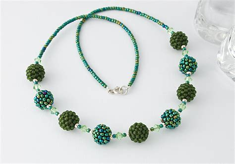 bead necklace green beaded bead necklace by ciel creations