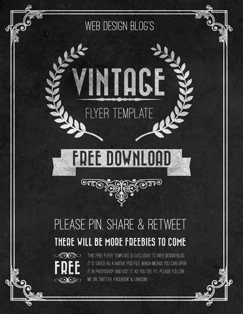 flyer template free free vintage flyer template psd web design