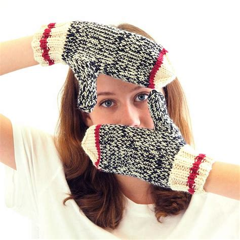 knitting mittens for beginners sock monkey mittens knitting kit with course for