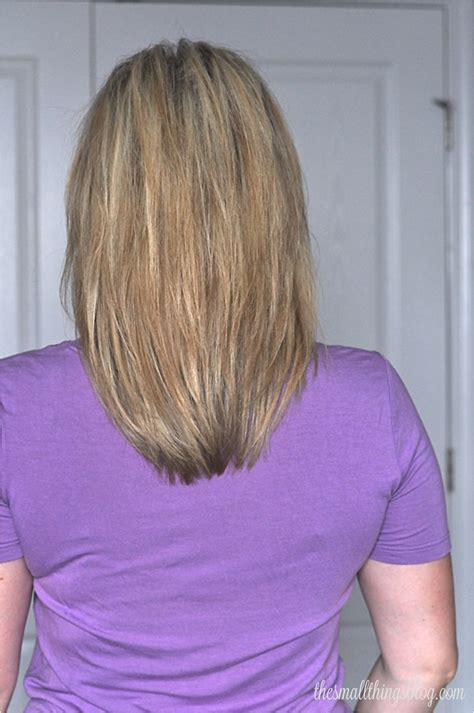 pictures of the back of shoulder lenth hair my haircut the small things blog