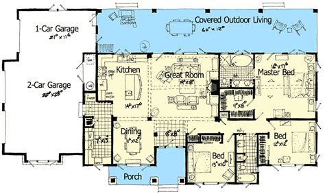 outdoor living floor plans architectural designs