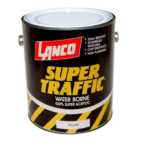 home depot yellow paint suit lanco traffic 1 gal yellow paint tp805 4 the home