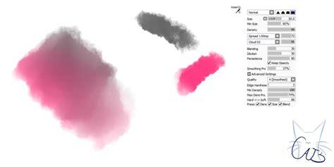 paint tool sai hair brushes 16 paint tool sai brush watercolor brush by catbrushes