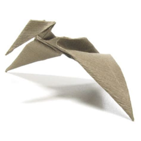 pterodactyl origami how to make a simple origami pterosaur page 1