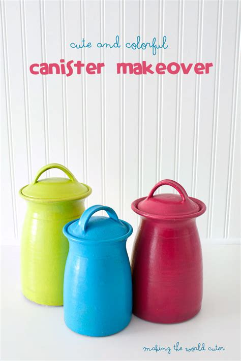 colorful kitchen canisters bright and colorful canister makeover